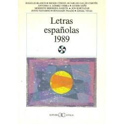 Letras españolas 1989...