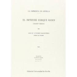 El impresor Enrique Rasco...
